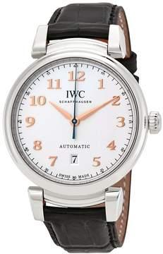 IWC Da Vinci Silver Dial Automatic Men's Leather Watch