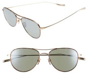 Salt Women's 'Meadows' 54Mm Polarized Aviator Sunglasses - Brushed Honey Gold