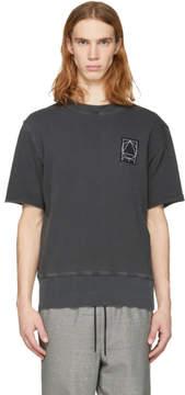 McQ Black Short Sleeve Glyph Logo Sweatshirt