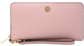 Tory Burch Women's Parker Zip Continental Leather Wallet - Pink Quartz - PINK QUARTZ - STYLE