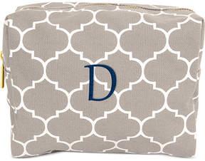 Cathy's Concepts Personalized Gray Moroccan Lattice Cosmetics Bag