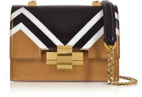 N°21 Mini Alice Color Block Nappa Leather Shoulder Bag