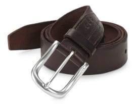 John Varvatos Scalloped Edge Leather Belt