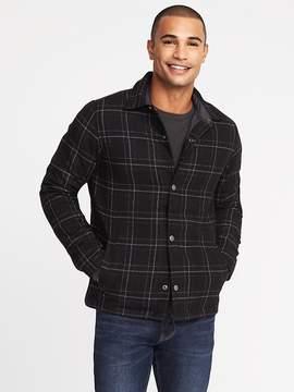 Old Navy Plaid Brushed Twill Shirt Jacket for Men