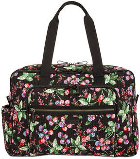 Vera Bradley Iconic Deluxe Extra-Large Weekender Travel Bag - WINTER BERRY - STYLE
