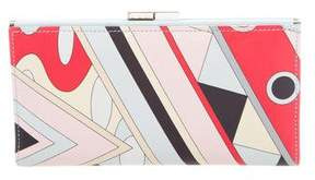 Emilio Pucci Leather Printed Wallet