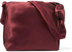 The Row Wander Small Satin Shoulder Bag - Burgundy