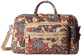 Vera Bradley Iconic Compact Weekender Travel Bag Weekender/Overnight Luggage - DESERT FLORAL - STYLE