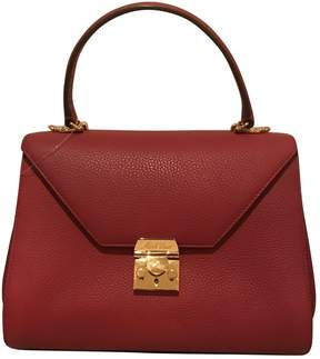 Mark Cross Red Leather Handbag