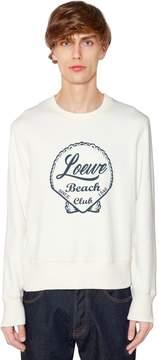 Loewe Beach Printed Cotton Jersey Sweatshirt