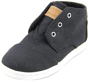 Toms Paseo Mid Youth Round Toe Canvas Black Sneakers.