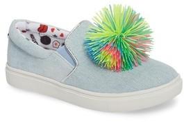 Steve Madden Girl's Pompom Slip-On Sneaker