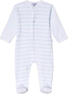 Absorba Pale Blue Stripe Jersey Babygrow