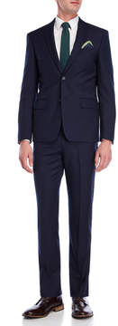 DKNY Solid Navy Wool Suit Jacket & Pants