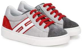 Hogan contrast panel sneakers