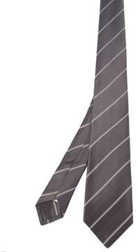 Kiton Men's Grey Silk Tie.