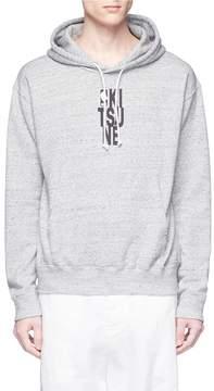 MAISON KITSUNÉ x NBA logo print hoodie