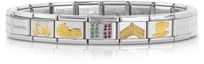 Nomination Classic Italia Golden Stainless Steel Bracelet w/Cubic Zirconia Italian Flag