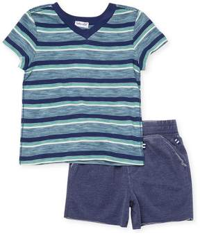 Splendid Little Boy's Stripe T-Shirt & Shorts Set