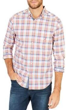 Nautica Classic-Fit Coastal Plaid Stretch Button-Down Shirt