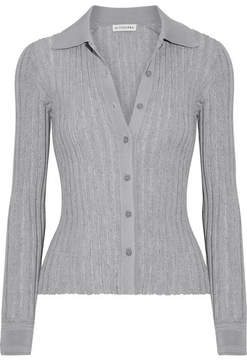 Altuzarra Campbell Ribbed-knit Cardigan - Gray