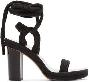 Isabel Marant Black Rope Macylli Sandals