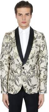 Christian Pellizzari Floral Lurex Jacquard Tuxedo Jacket
