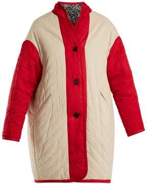 Etoile Isabel Marant Haley floral-print reversible quilted coat