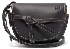 Loewe Gate Small Leather Cross Body Bag - Womens - Navy