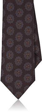 Isaia Men's Floral-Medallion-Print Silk Necktie