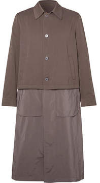 Dries Van Noten Reversible Cotton-Twill And Matte-Shell Trench Coat