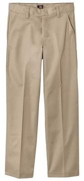 Dickies Boys' Husky Classic Fit Flat Front Pants