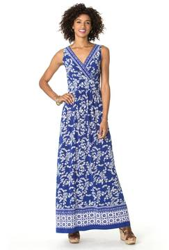 Chaps Women's Tile-Print Jersey Maxi Dress