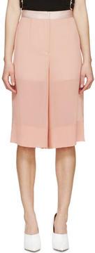 Cédric Charlier Pink Sheer Hybrid Culottes