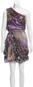 Matthew Williamson Devoré One-Shoulder Dress