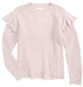 Treasure & Bond Girl's Ruffle Sweater
