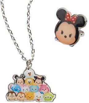 Disney Disney's Tsum Tsum Necklace & Minnie Mouse Ring Jewelry Set