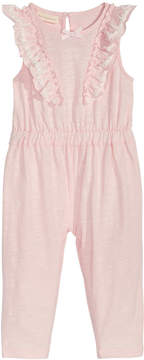 First Impressions Ruffle-Front Jumpsuit, Baby Girls (0-24 months), Created for Macy's