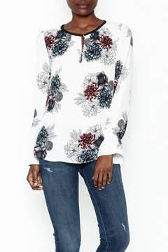 Daniel Rainn Floral Long Sleeve Top