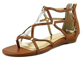 Thalia Sodi Pamella Women W Open Toe Canvas Brown Gladiator Sandal.