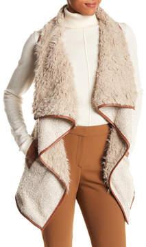 Angie Faux Fur Lined Wool Blend Knit Vest