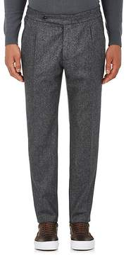 Boglioli Men's Wool Flannel Pleated Trousers