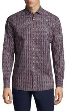 Vilebrequin Geometric Cotton Button-Down Shirt