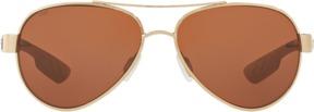 Costa del Mar Loreto Gold Aviator Sunglasses