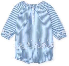 Ralph Lauren | Stripe Top Bloomer Set | 6-12 months | Blue