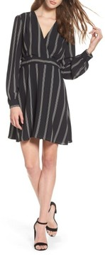 Charles Henry Women's Stripe Fit & Flare Dress