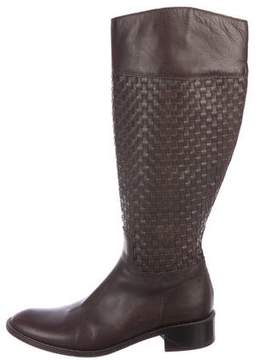 Max Mara Woven Leather Boots