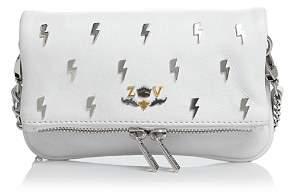 Zadig & Voltaire Rock Nano Flash Mini Leather Crossbody Clutch