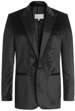 Maison Margiela Silk-Cotton Satin Blazer
