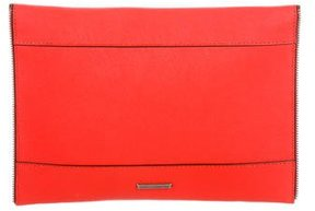 Rebecca Minkoff Leather Envelope Clutch - ORANGE - STYLE